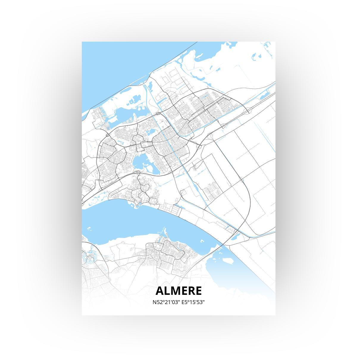 Almere poster - Zelf aan te passen!
