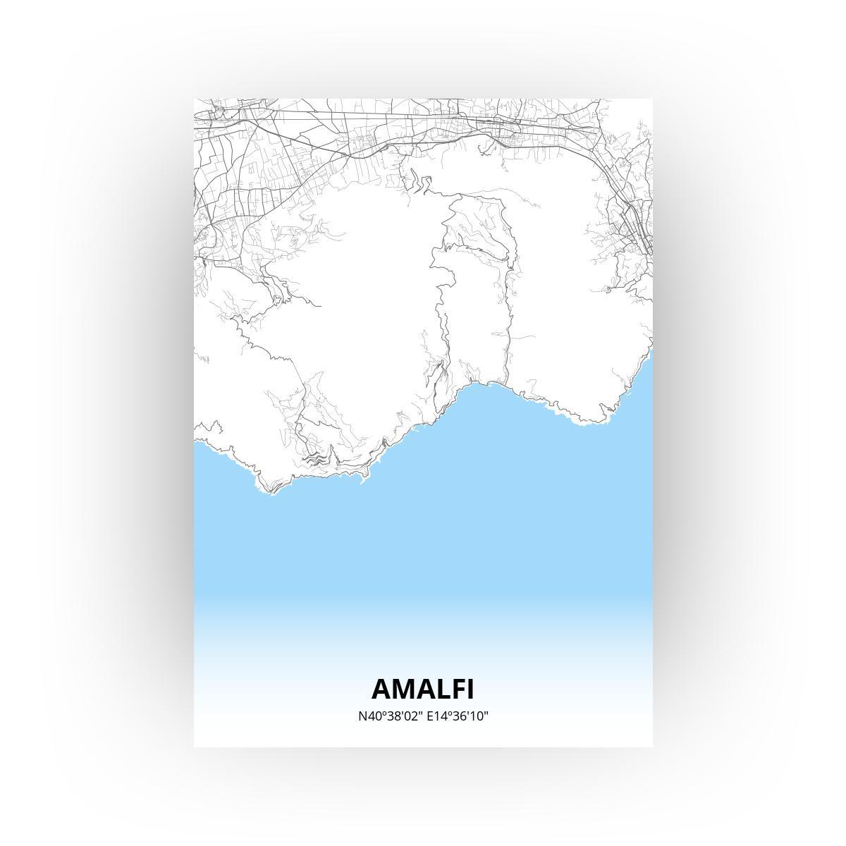Amalfi poster - Zelf aan te passen!