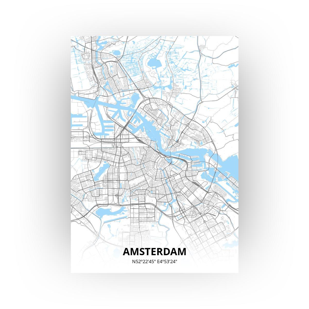 Amsterdam poster - Zelf aan te passen!