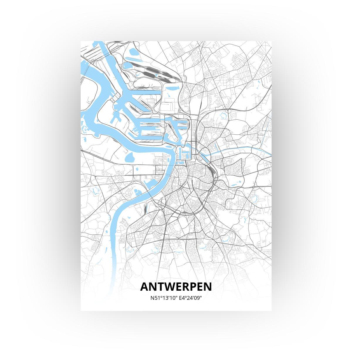 Antwerpen poster - Zelf aan te passen!