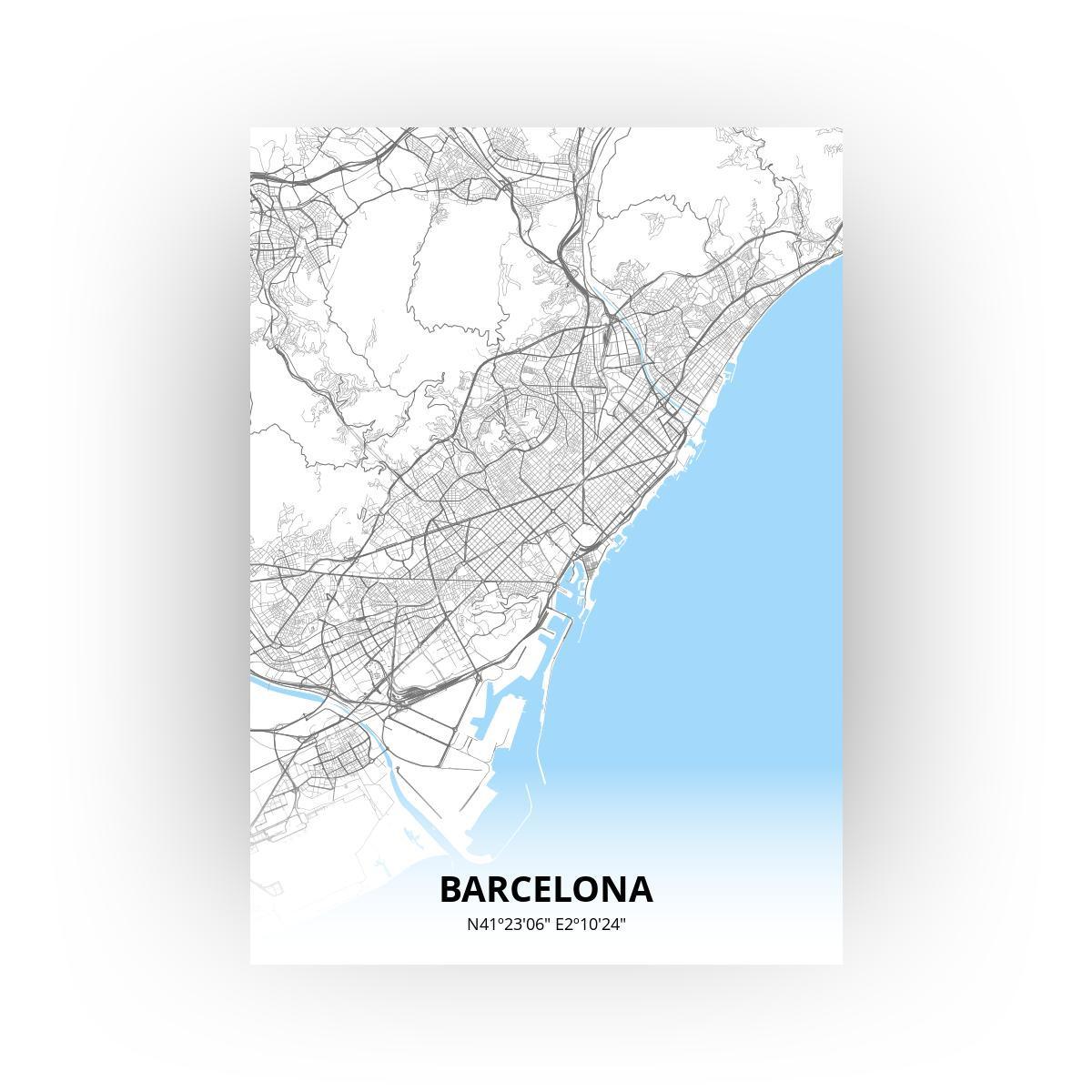 Barcelona poster - Zelf aan te passen!