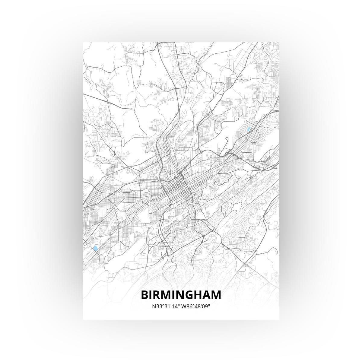 Birmingham poster - Zelf aan te passen!