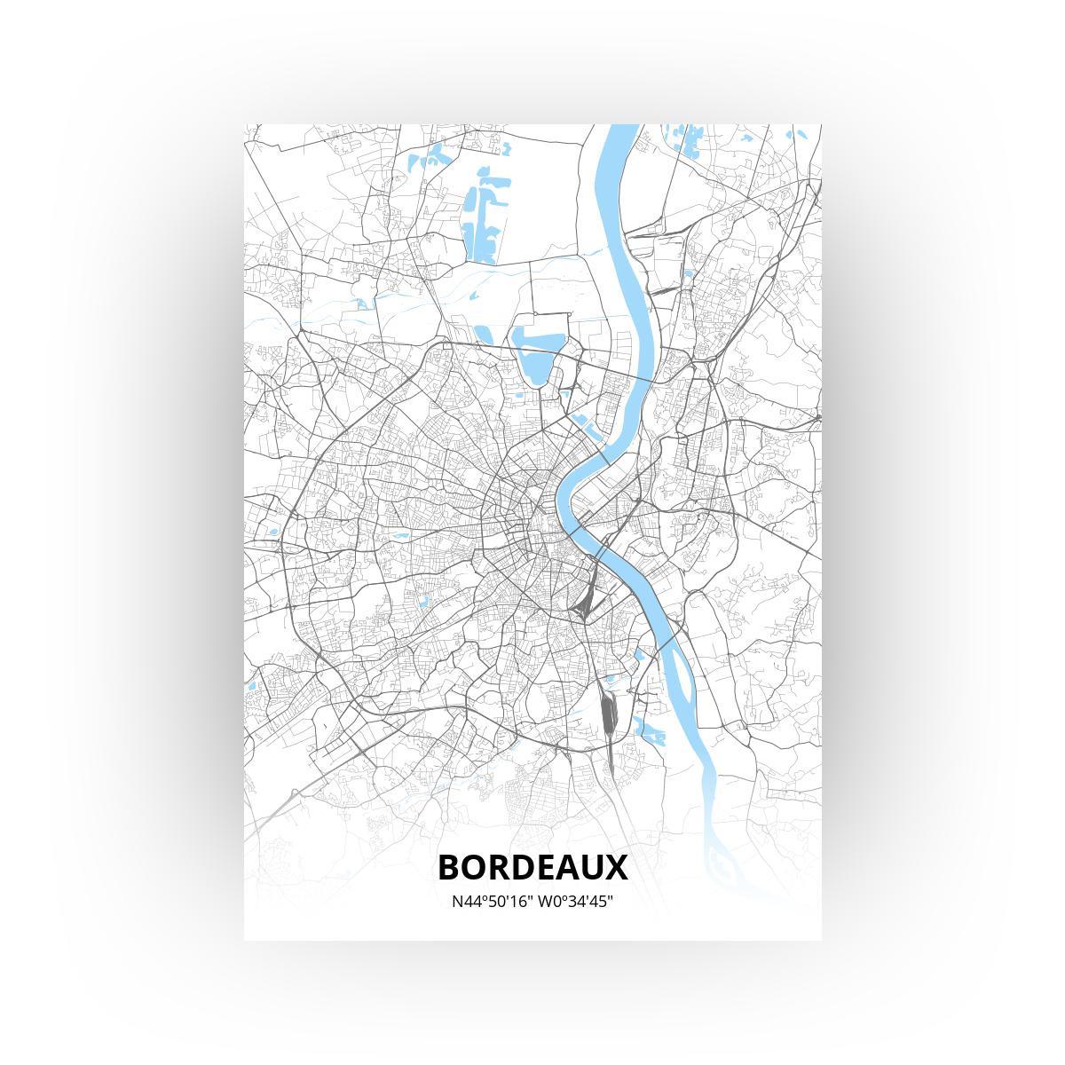 Bordeaux poster - Zelf aan te passen!