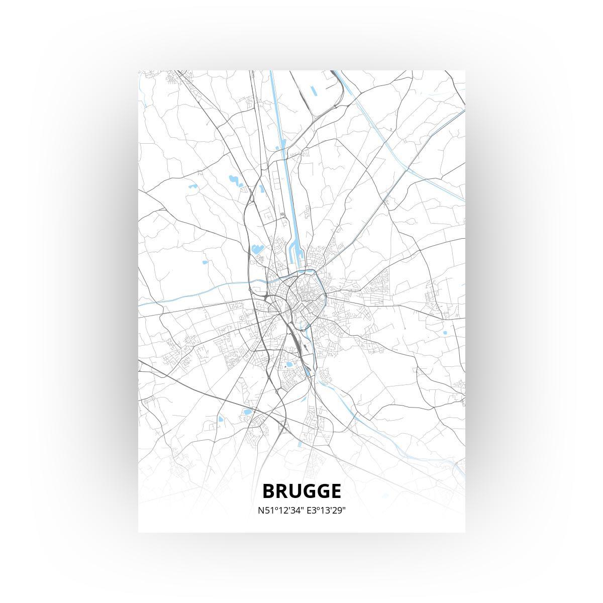 Brugge poster - Zelf aan te passen!