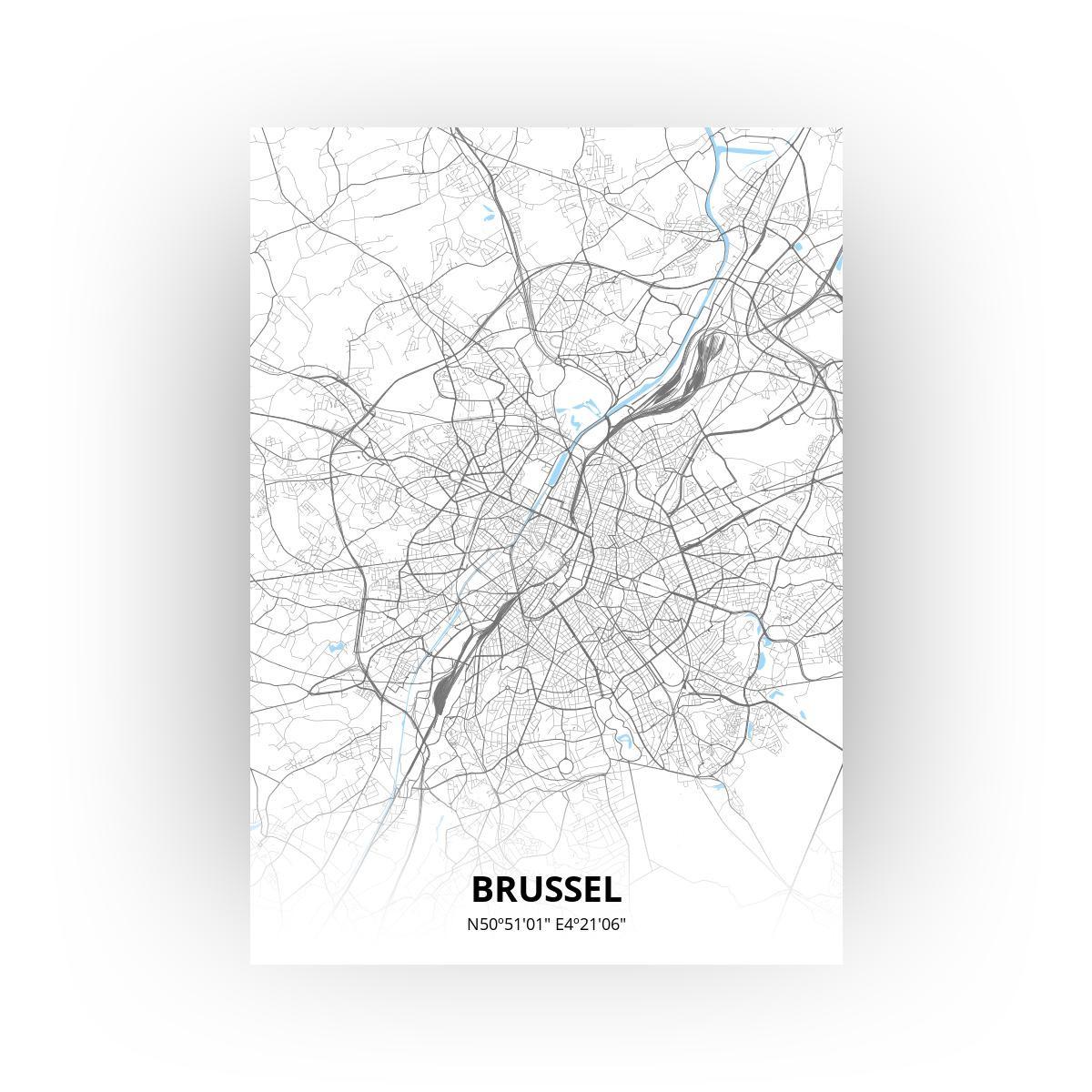 Brussel poster - Zelf aan te passen!