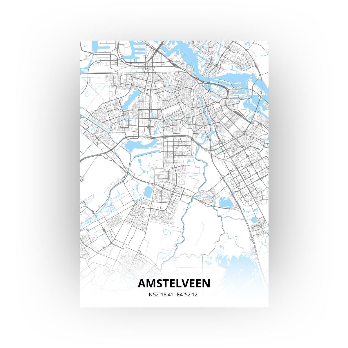 Amstelveen print - Standaard stijl