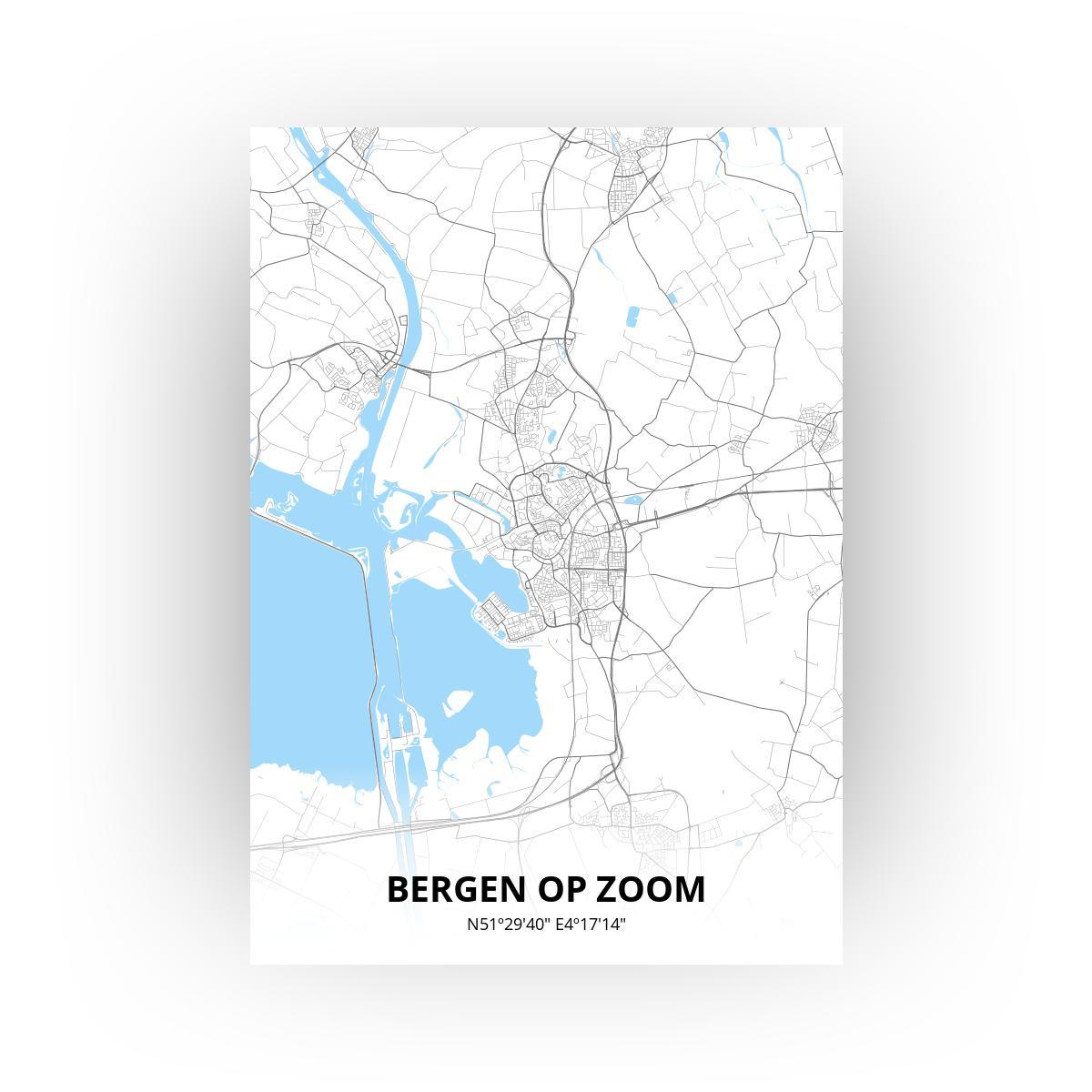Bergen op Zoom print - Standaard stijl