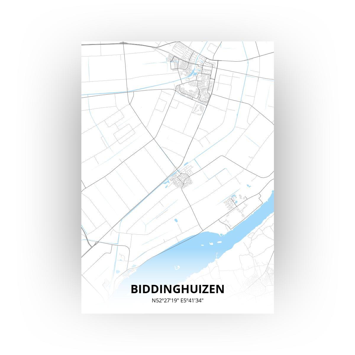 Biddinghuizen print - Standaard stijl