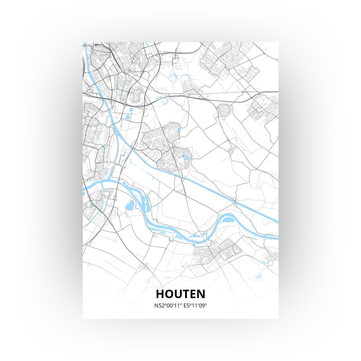 Houten print - Standaard stijl