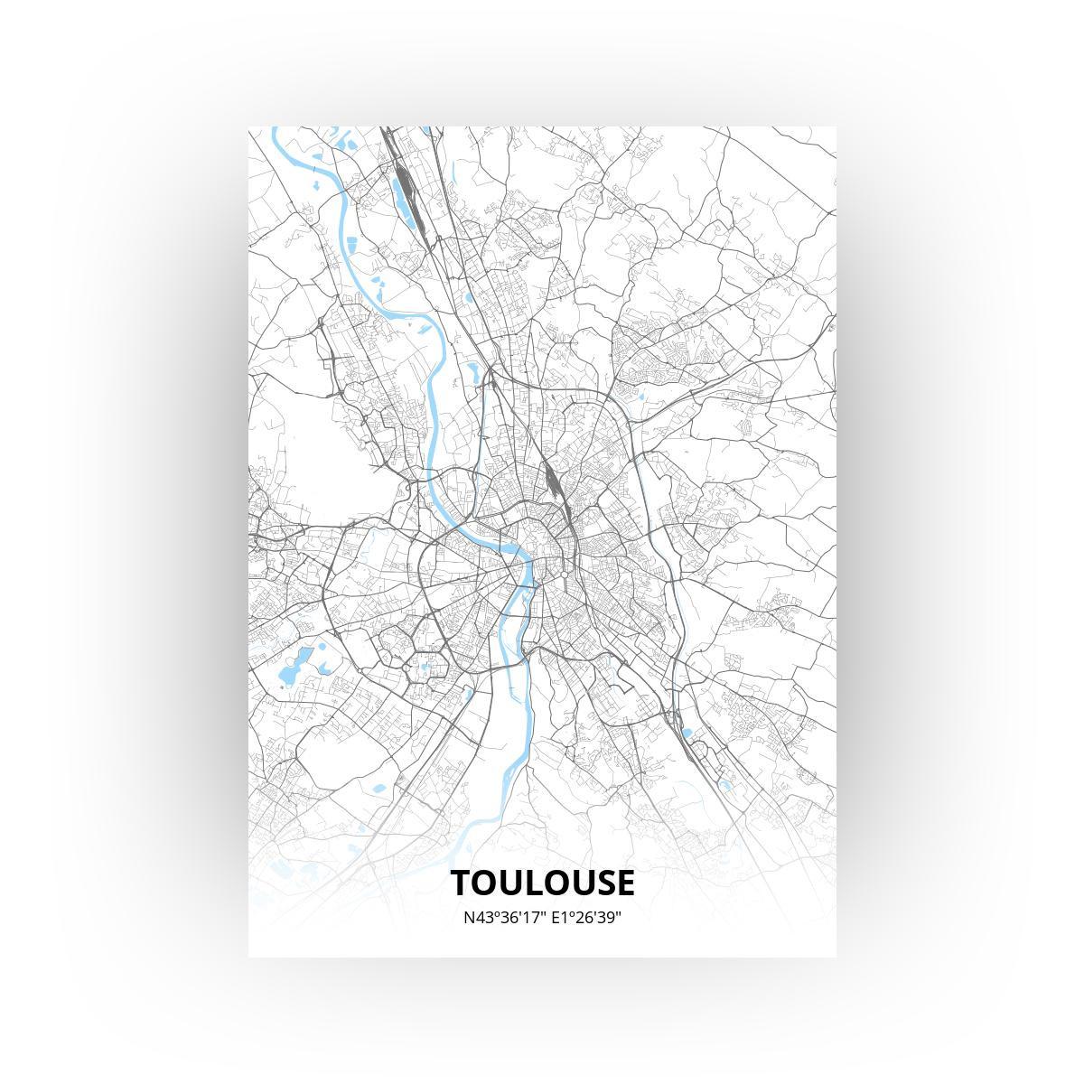 Toulouse print - Standaard stijl