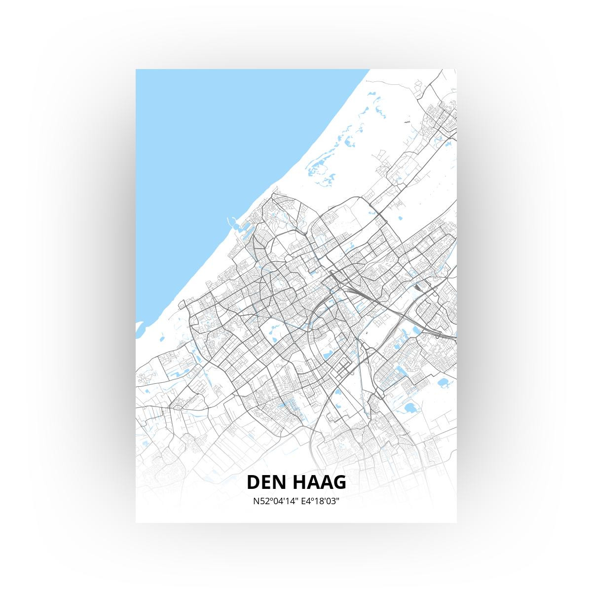 Den Haag poster - Zelf aan te passen!