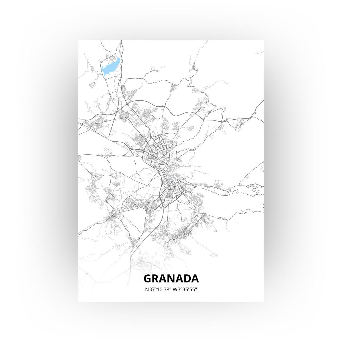 Granada poster - Zelf aan te passen!