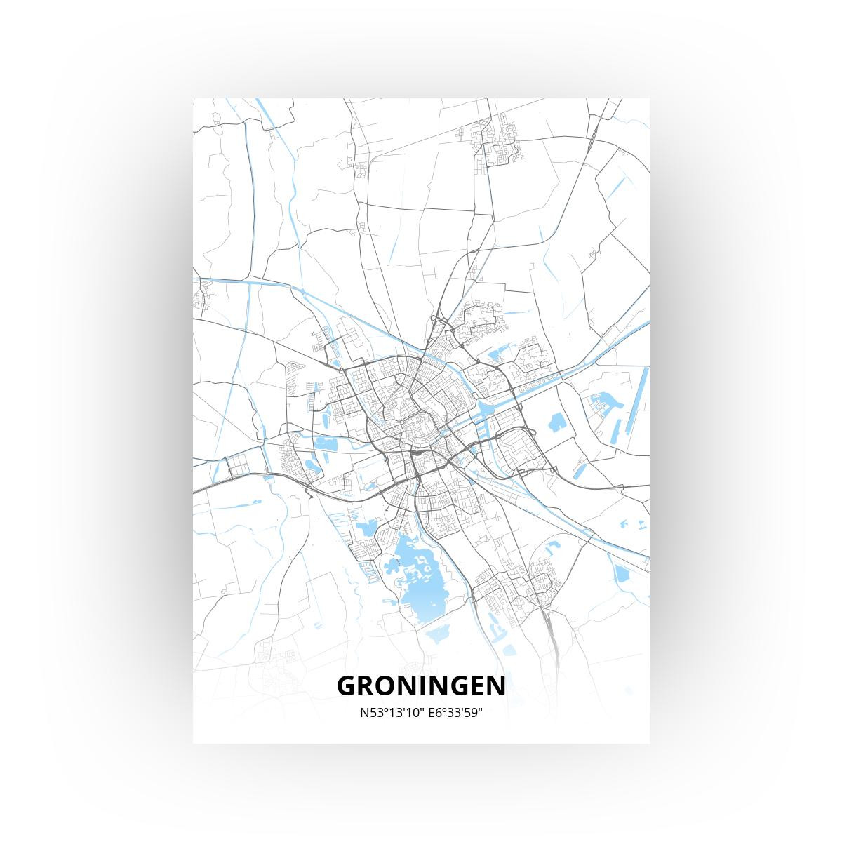 Groningen poster - Zelf aan te passen!