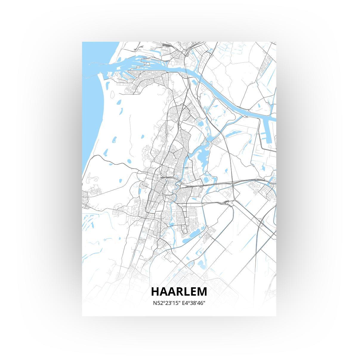 Haarlem poster - Zelf aan te passen!