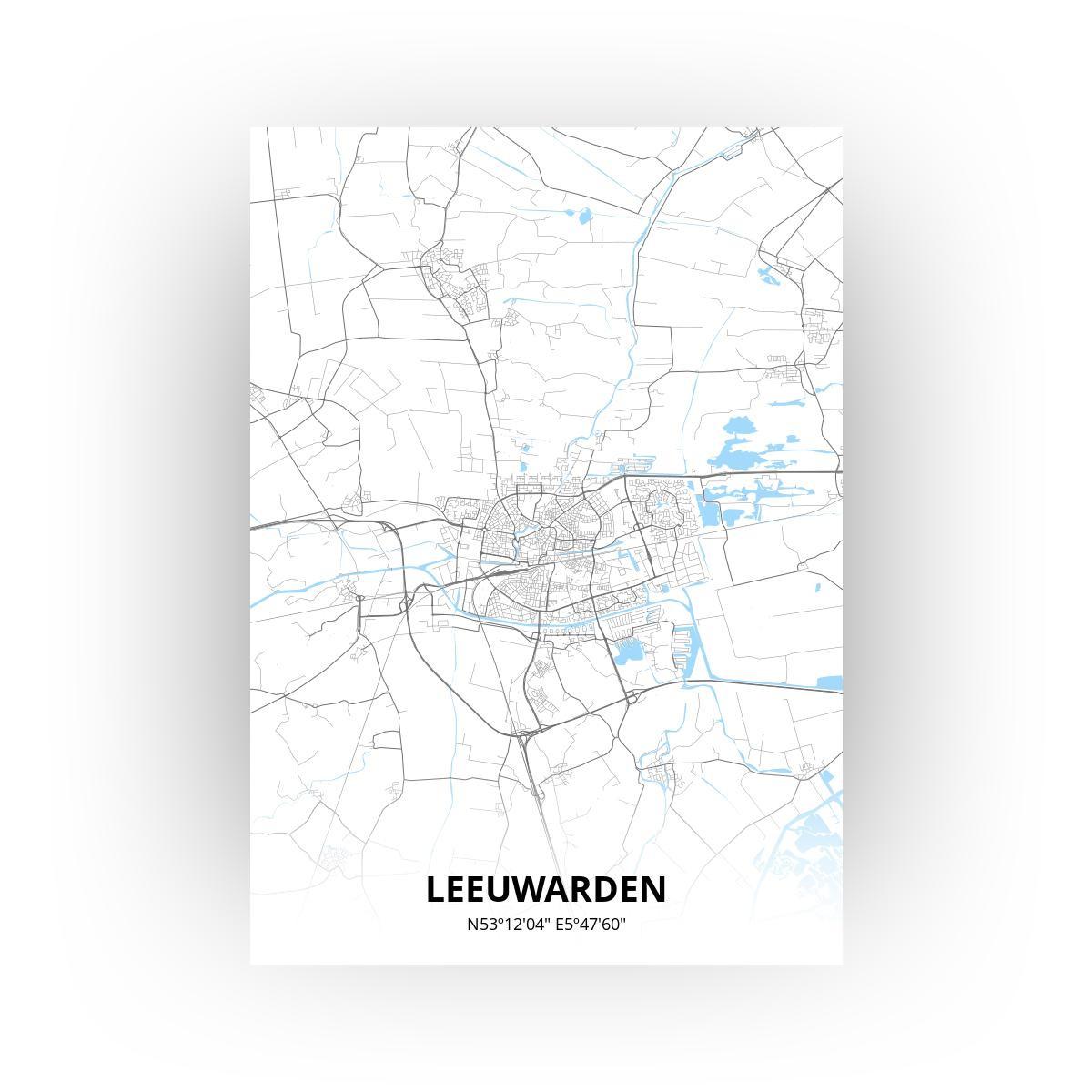 Leeuwarden poster - Zelf aan te passen!