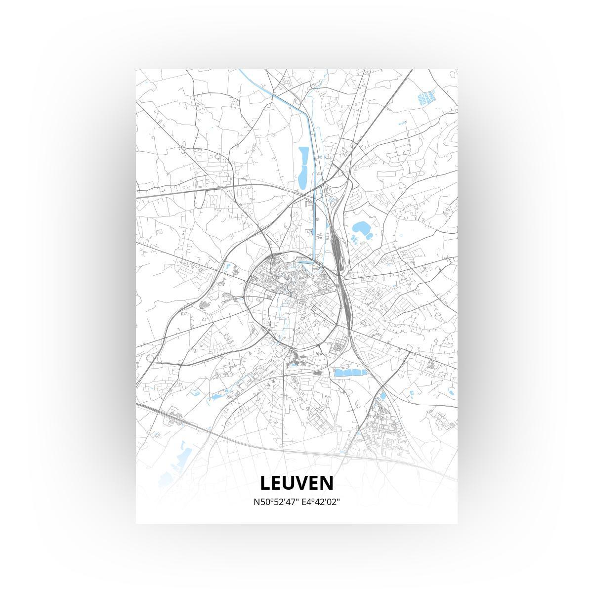 Leuven poster - Zelf aan te passen!