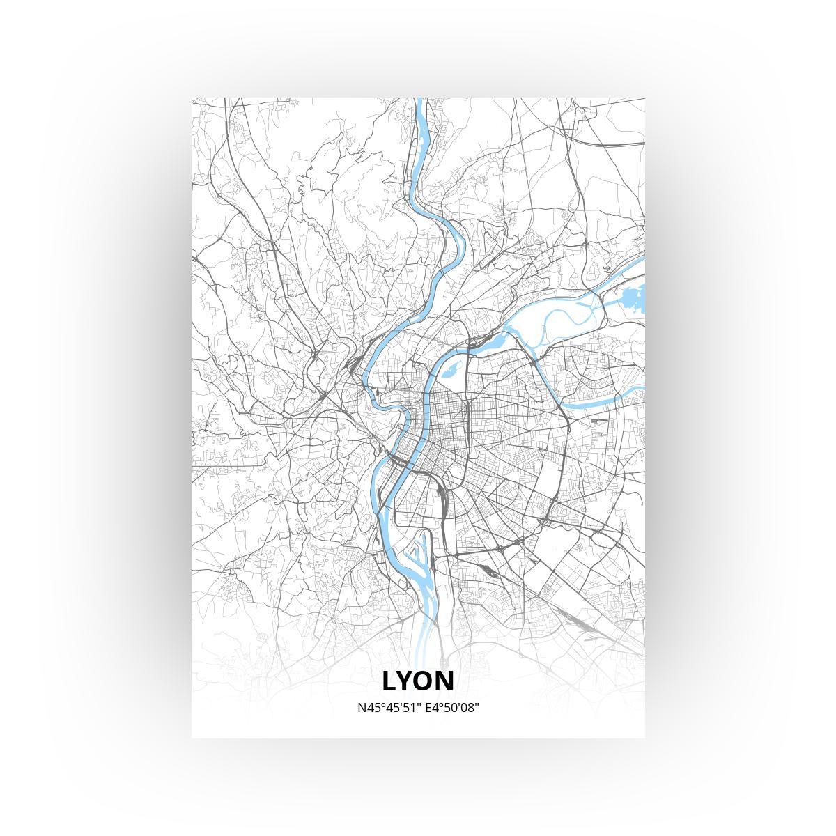 Lyon poster - Zelf aan te passen!