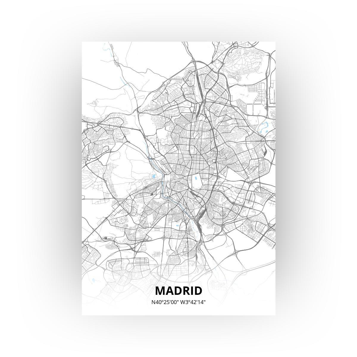Madrid poster - Zelf aan te passen!