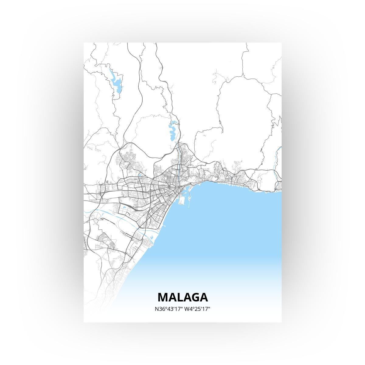 Malaga poster - Zelf aan te passen!