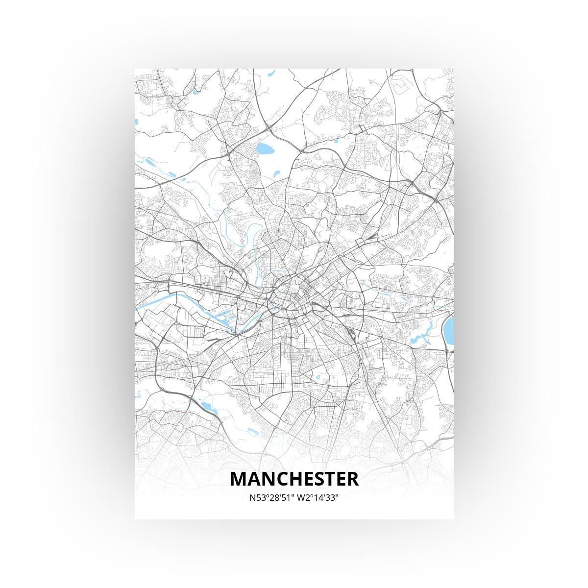 Manchester poster - Zelf aan te passen!