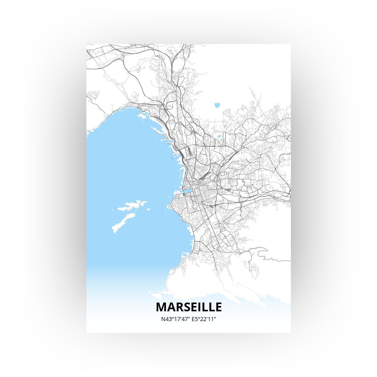 Marseille poster - Zelf aan te passen!