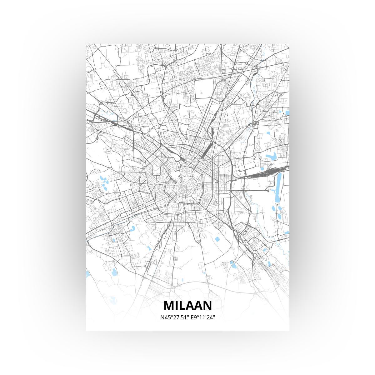 Milaan poster - Zelf aan te passen!