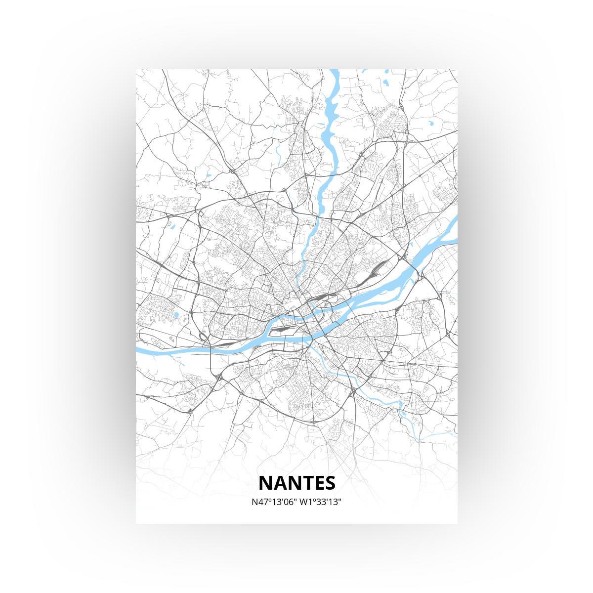 Nantes poster - Zelf aan te passen!