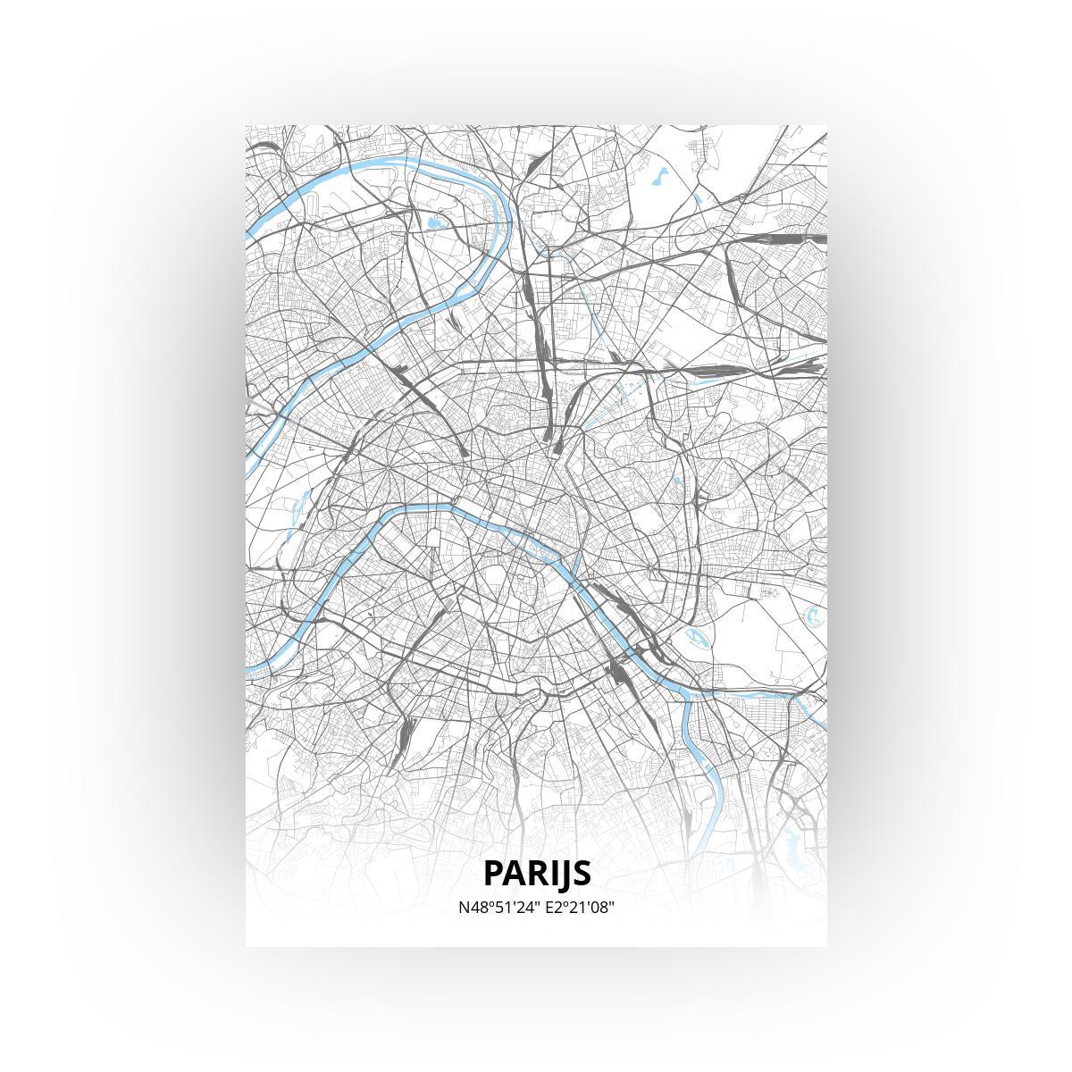 Parijs poster - Zelf aan te passen!