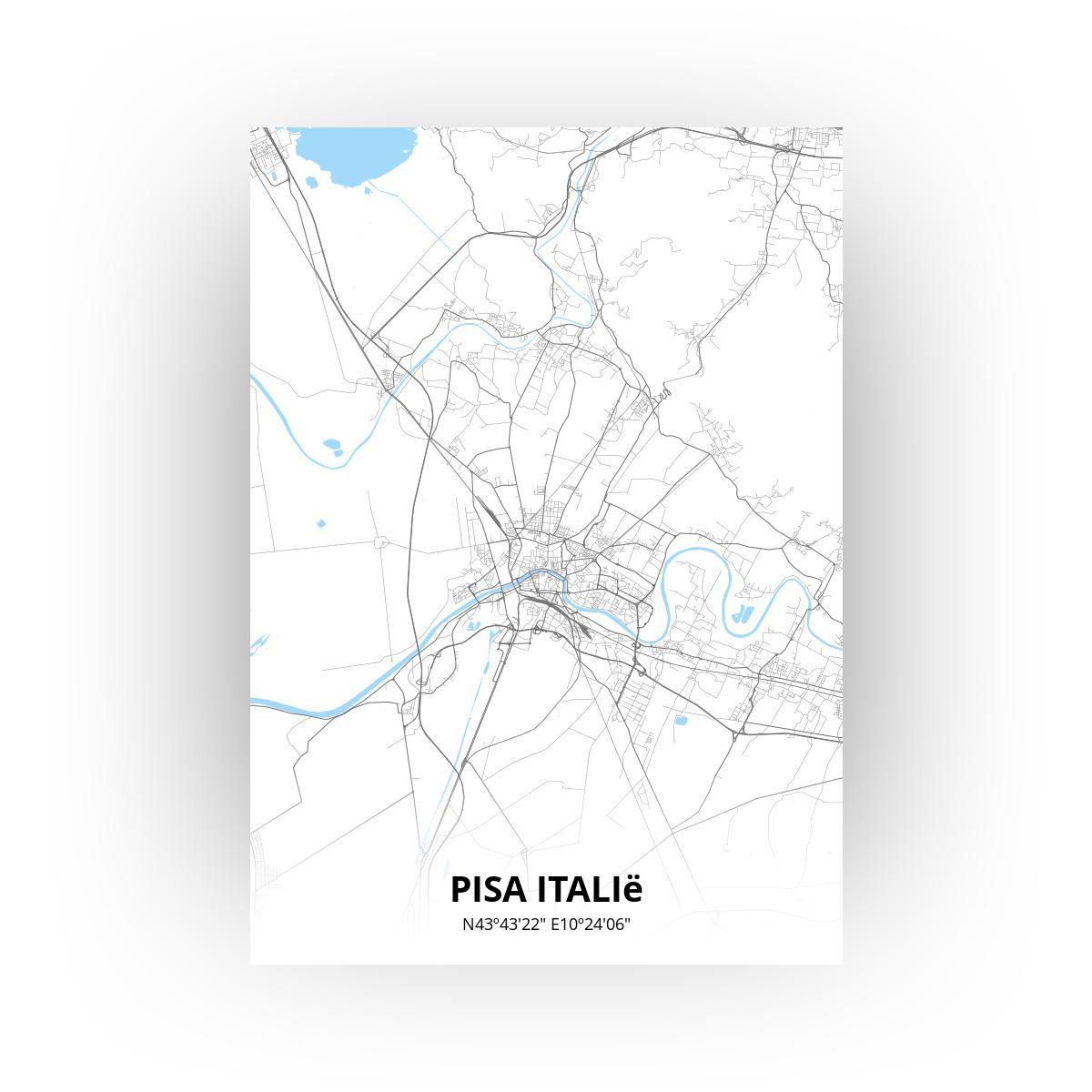 Pisa Italië poster - Zelf aan te passen!