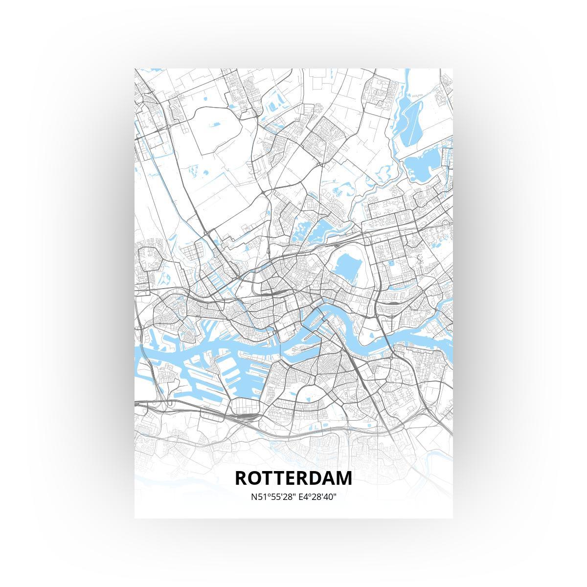 Rotterdam poster - Zelf aan te passen!