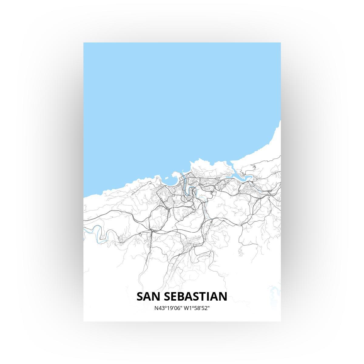San Sebastian poster - Zelf aan te passen!