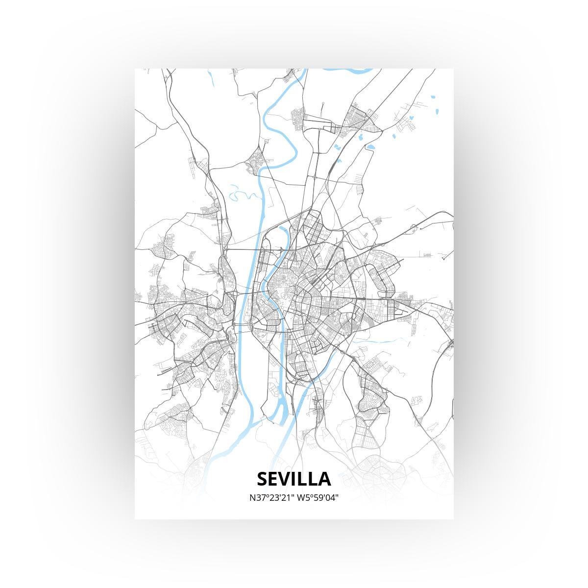 Sevilla poster - Zelf aan te passen!