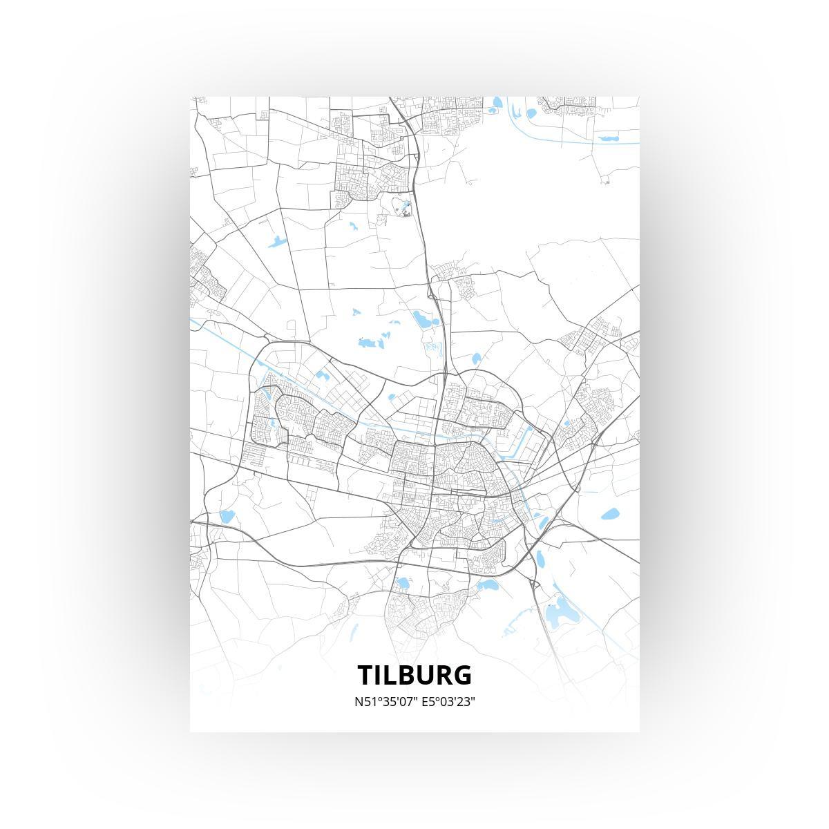 Tilburg poster - Zelf aan te passen!