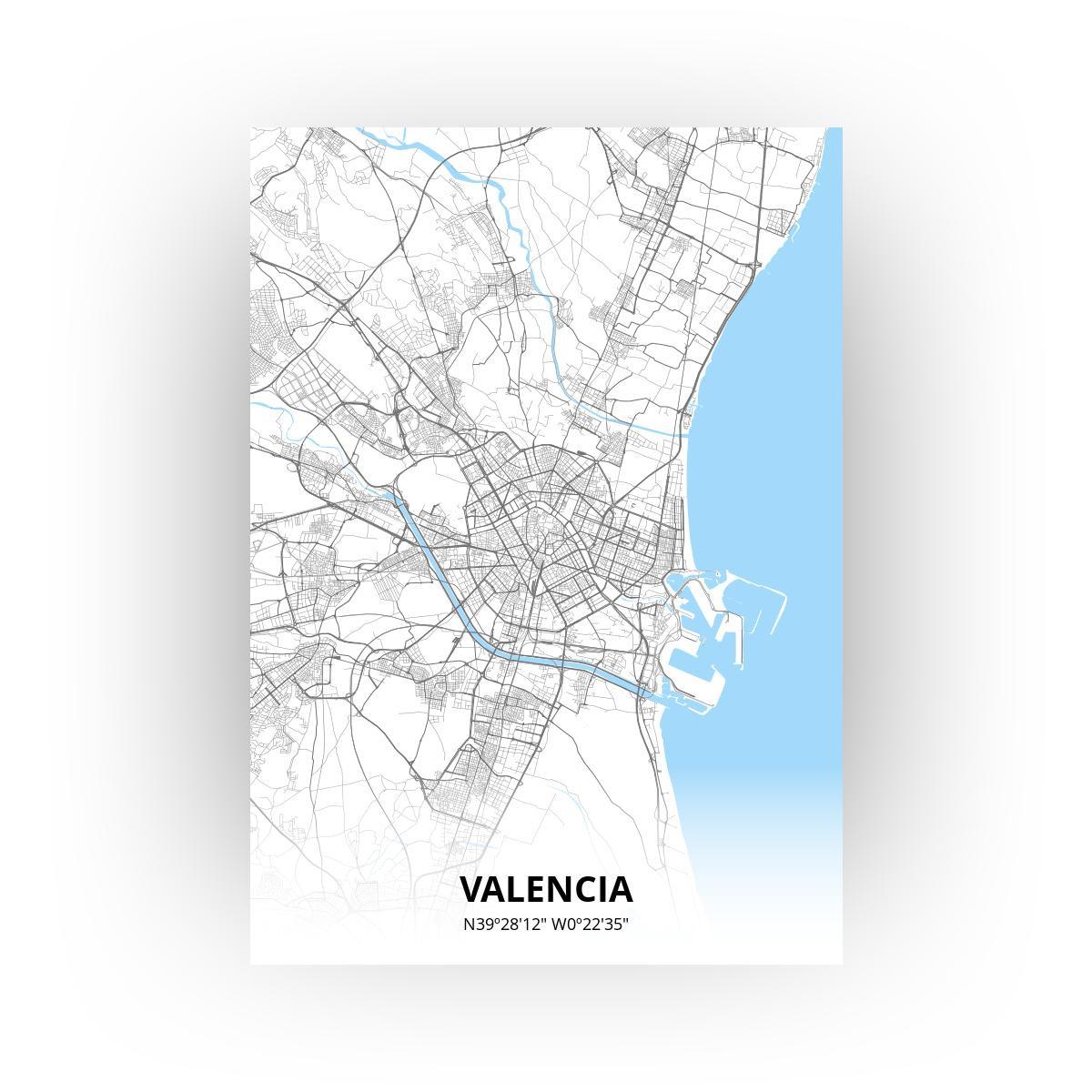 Valencia poster - Zelf aan te passen!