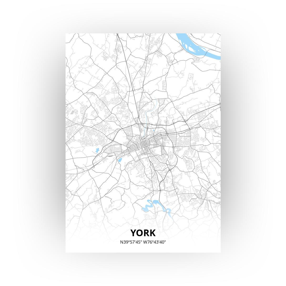 York poster - Zelf aan te passen!