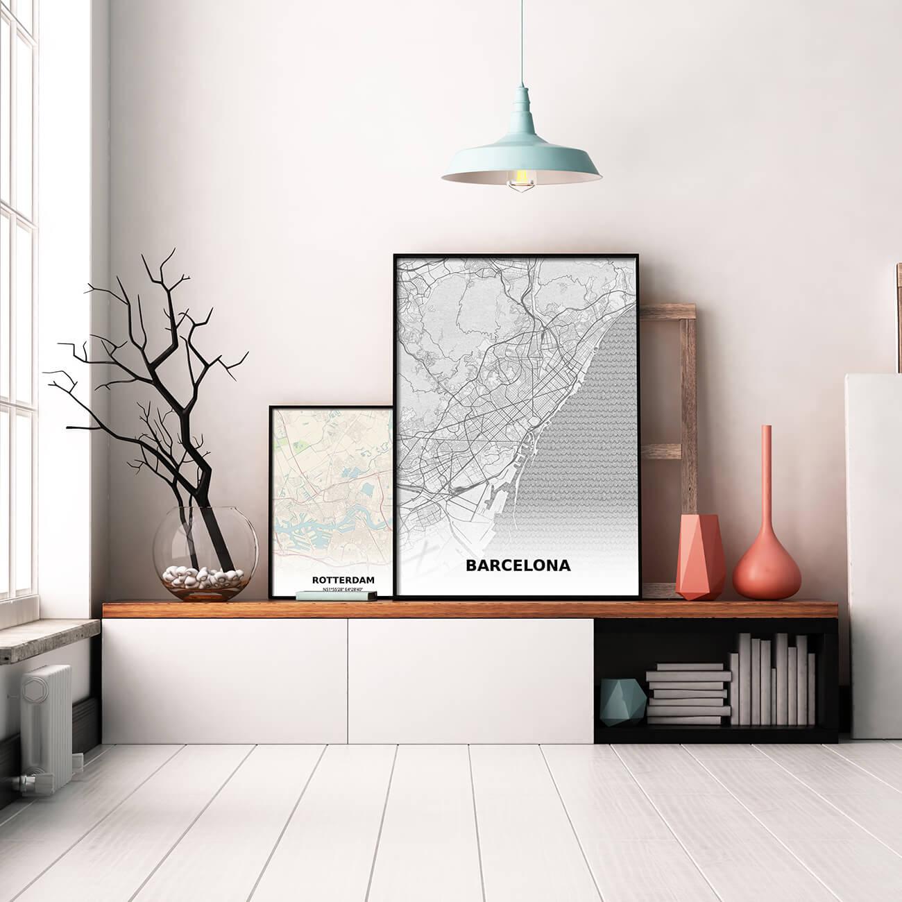 Rotterdan en Barcelona prints