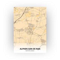 Alphen aan de Rijn print - Antiek stijl
