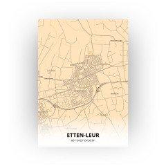 Etten-Leur print - Antiek stijl