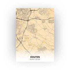 Houten print - Antiek stijl