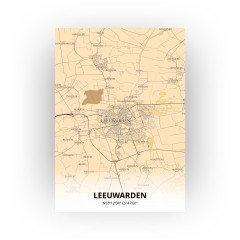 Leeuwarden print - Antiek stijl