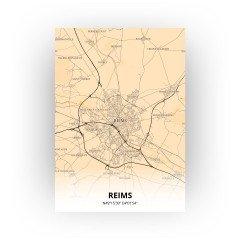 Reims print - Antiek stijl