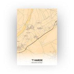 't Harde print - Antiek stijl