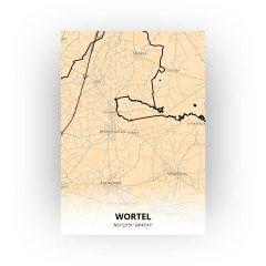Wortel print - Antiek stijl