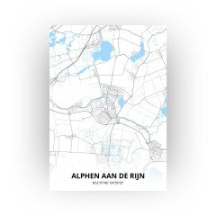 Alphen aan de Rijn print - Standaard stijl