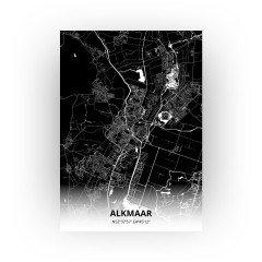Alkmaar print - Zwart stijl