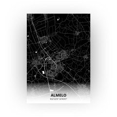 Almelo print - Zwart stijl