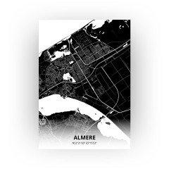 Almere print - Zwart stijl
