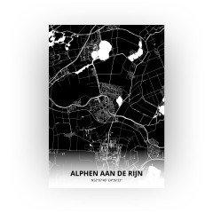 Alphen aan de Rijn print - Zwart stijl