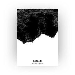 Amalfi print - Zwart stijl
