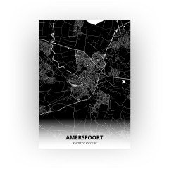 Amersfoort print - Zwart stijl